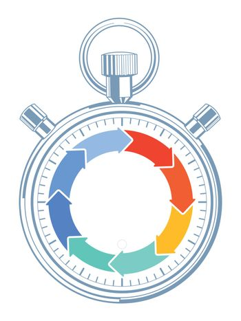 Countdown time concept, pictogram
