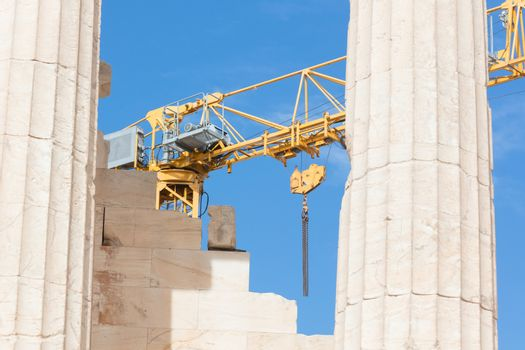 Reconstruction of ancient Parthenon
