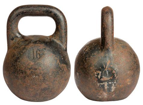 Old cast iron kettlebell 16 kg