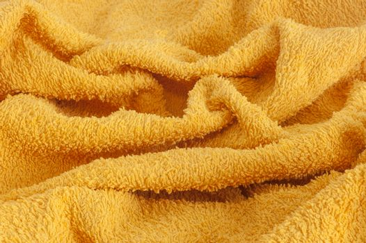 a background in a towel yellow towel