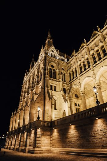 The Hungarian Parliament in Budapest on the Danube