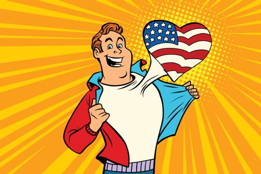 sports fan loves USA
