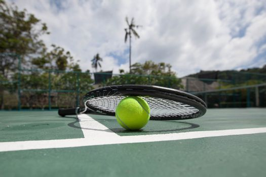 Tennis Ball with Racket