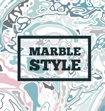 Marble ink background. Vector illustration with topographic lines