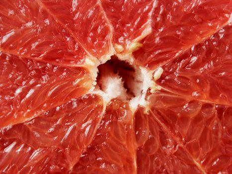 cut red grapefruit