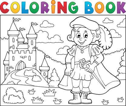 Coloring book prince and castle 2