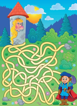 Maze 4 with prince and princess