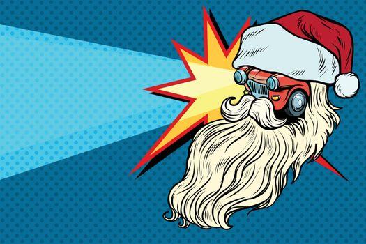 headlights Car Santa Claus Christmas character