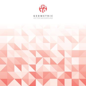 Abstract gray triangle and square in red and white color pattern, Vector illustration, copy space