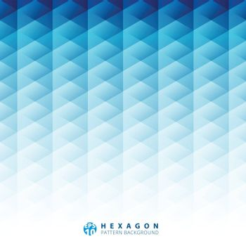 Abstract geometric hexagon pattern blue background, Creative design templates, Vector illustration