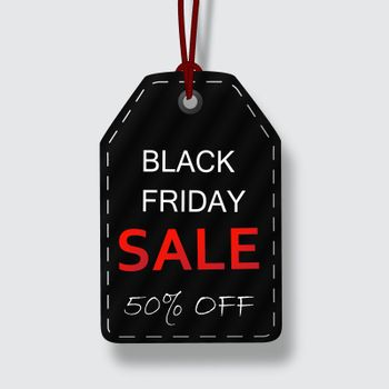 Black Friday sale vector price tags for discount promotions with designs isolated in white background. Vector illustration.