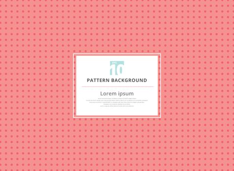 Abstract circle pink seamless polka dots pattern background. vector illustration