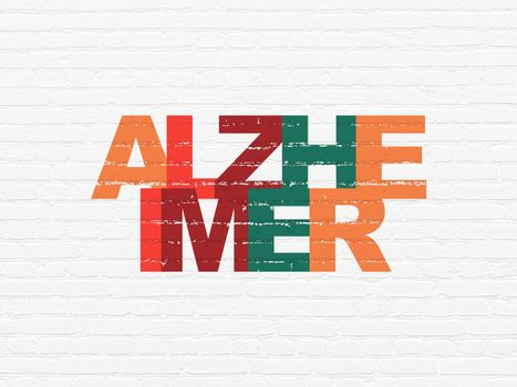 Healthcare concept: Alzheimer on wall background