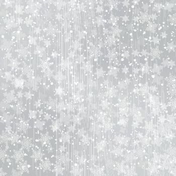 Winter white wood background christmas made of snowflakes and snow with blank copy space for your text, Vector illustration