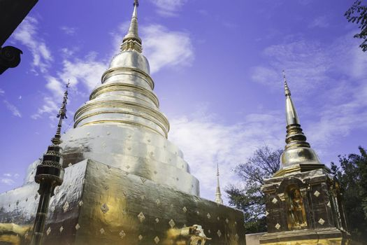 Wat Phra Singh Temple Chiang Mai Thailand, stock photo