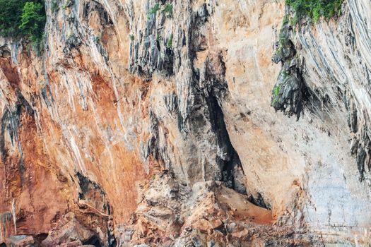 Surface of limestone rock