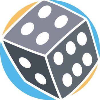 gamble dice icon simple flat logo vector