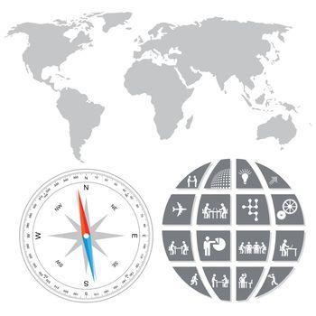 World trade concept, illustration