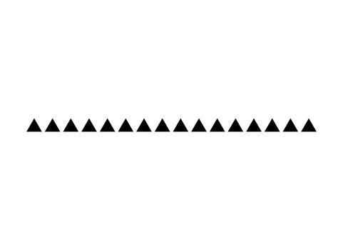triangle line divider vector design footer modern border