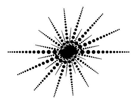 dot line  simple footer border sun shape vector design