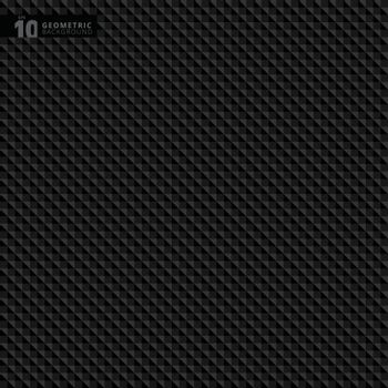 Abstract geometric triangle black pattern background texture, Vector illustration