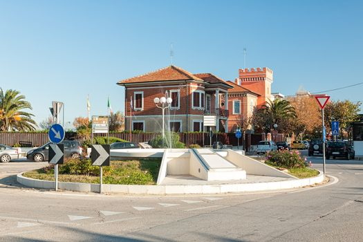 Marotta, the roundabout and fountain