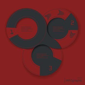 ingographic vector round design