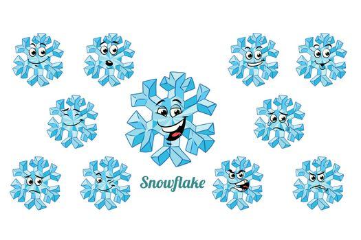 emotions emoticons set isolated on white background