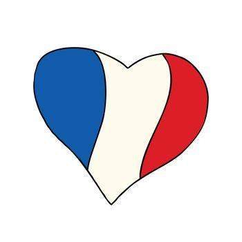 France heart, Patriotic symbol