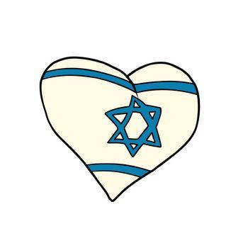 Israel heart, Patriotic symbol