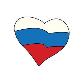 Russia heart, Patriotic symbol