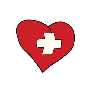 Switzerland heart, Patriotic symbol