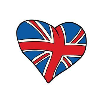 United Kingdom heart Patriotic symbol