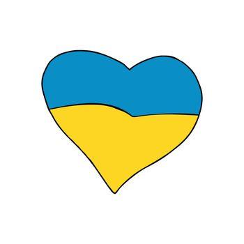 Ukraine heart, Patriotic symbol