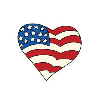 USA heart Patriotic symbol