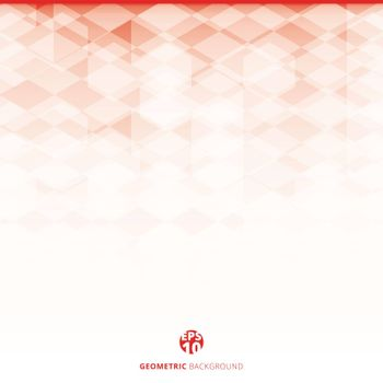Abstract geometric hexagon pattern red and white background, Creative design templates, Vector illustration