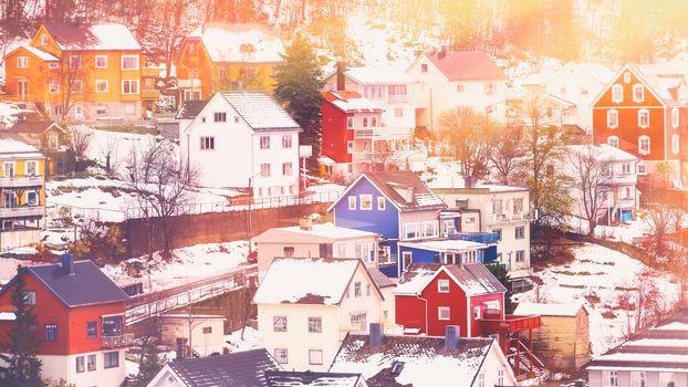 Beautiful town in winter