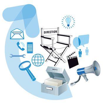 Business development information, illustration