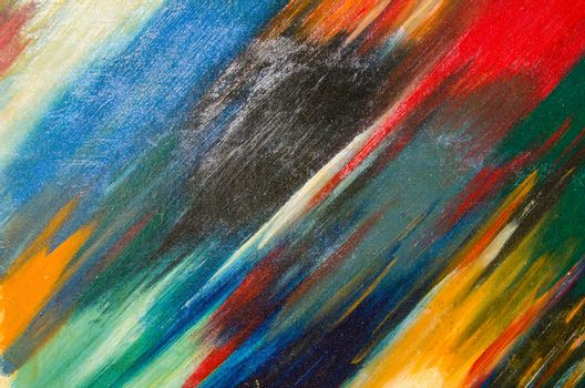 Beautiful and neat watercolor smears on canvas