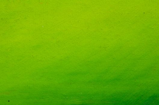 Beautiful light green paint on canvas, very neat smears