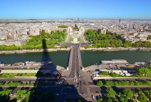 Aerial panoramic Paris