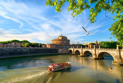Boat on the tiber