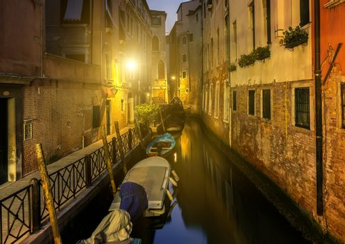 Canal at night