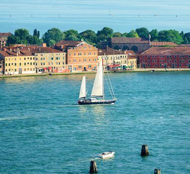 Sailboat in Venice