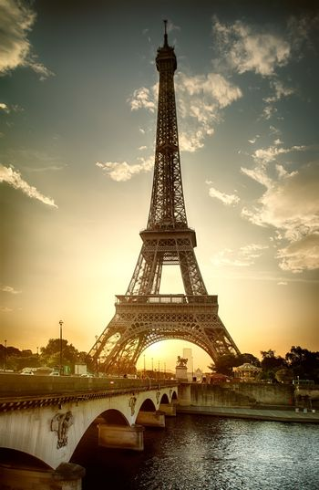 View on Eiffel Tower