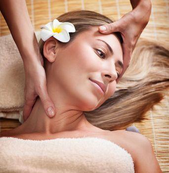 Woman at massage