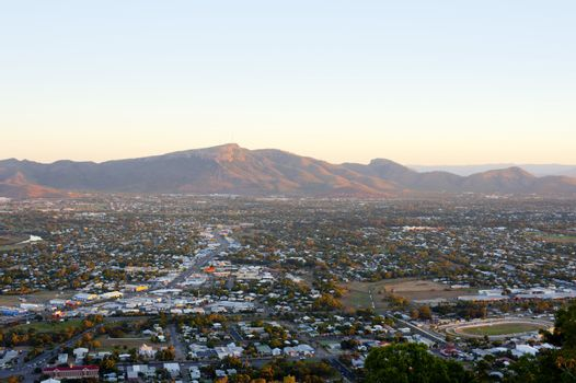 View over Townsville to Mount Stuart in Queensland
