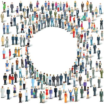group of people, crowd community, Illustration