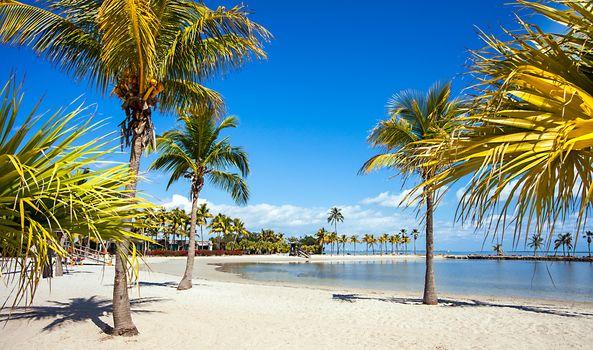 Round Beach in Miami Florida USA