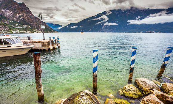 Porto Nuovo in Limone Lake Garda Italy